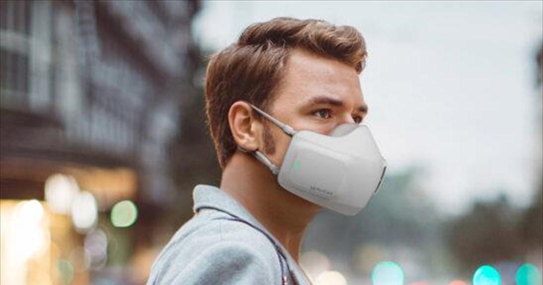 Ατομική συσκευή καθαρισμού αέρα που φοριέται ως μάσκα