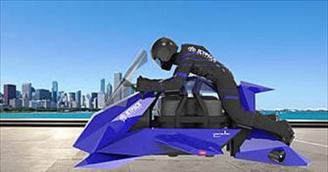 Πέταξε η πρώτη ιπτάμενη μοτοσυκλέτα